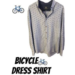 BICYCLE PRINT DRESS SHIRT! BOUGHT IN ITALY!